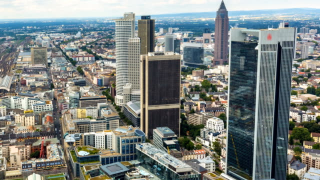 skyline in frankfurt, time lapse - hesse germany stock videos and b-roll footage
