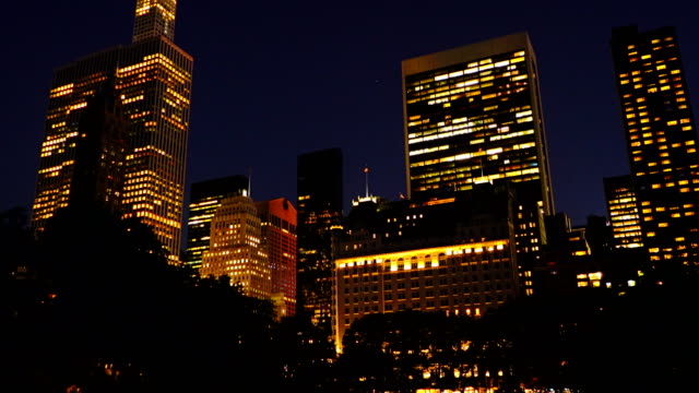 skyline manhattan from central park - office building exterior stock videos and b-roll footage