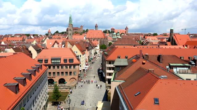 skyline von nürnberg - panorama stock-videos und b-roll-filmmaterial