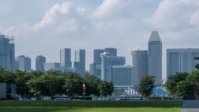 シンガポール市中央ビジネス街のスカイライン - 映像技法点の映像素材/bロール