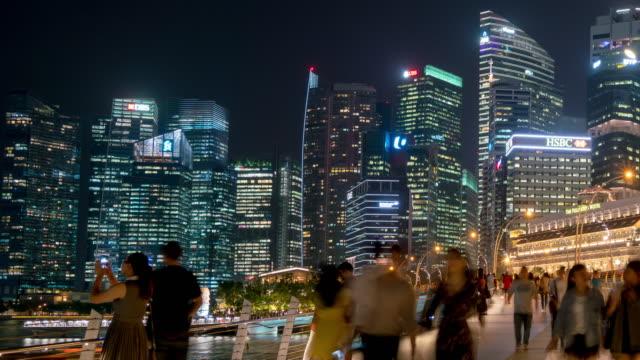 Panorama du quartier Central des affaires de ville de Singapour