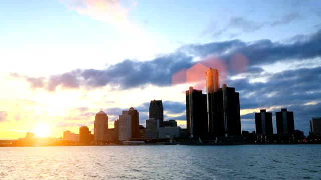 ミシガン州デトロイトの街並みの魅力 - デトロイト点の映像素材/bロール