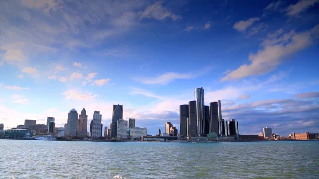 Skyline von Detroit, MI