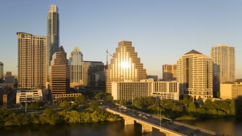 vídeos y material grabado en eventos de stock de skyline of downtown austin, texas, usa - austin texas