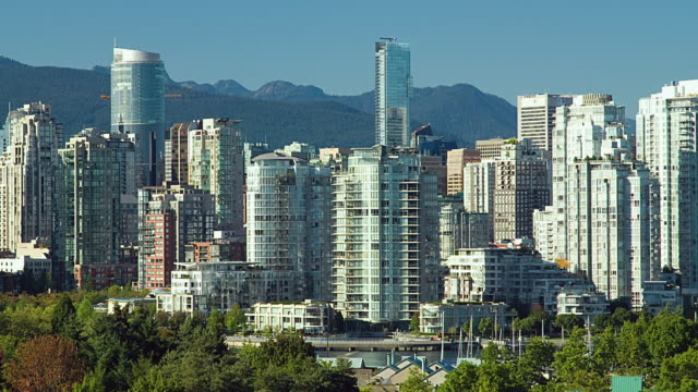 WS PAN T/L Skyline of downtown Vancouver / Vancouver, British Columbia, Canada