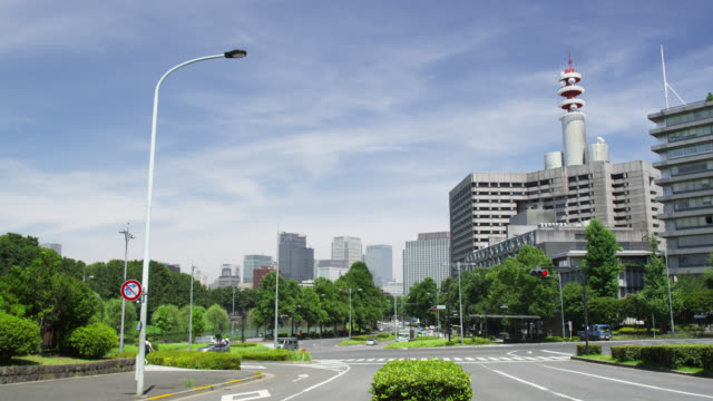 WS Skyline of high rising buildings of Hibiya and Uchisaiwai-cho with the Metropolitan Police Building at right / Tokyo, Tokyo-to, Japan