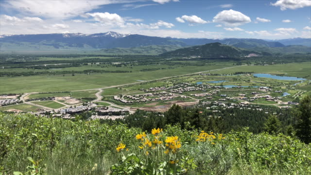 skyline of jackson hole - wyoming stock-videos und b-roll-filmmaterial