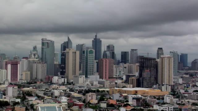 T/L, WS, HA, Skyline of Makati district, Manila, Philippines