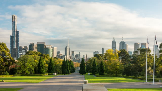 skyline of melbourne - green color stock videos & royalty-free footage