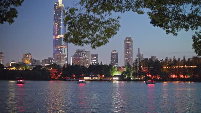 skyline of nanjing - beijing stock videos & royalty-free footage