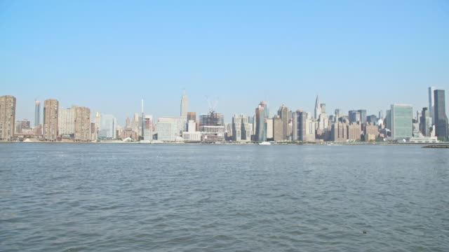 skyline of new york - hudson river stock videos & royalty-free footage