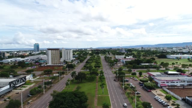 skyline of palmas, tocantins - tocantins stock videos and b-roll footage