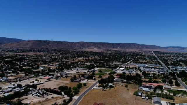 skyline of palmdale, california - palmdale stock videos and b-roll footage
