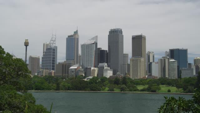 skyline of sydney cbd , sydney, new south wales, australia - real time stock videos & royalty-free footage