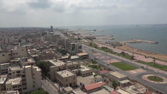 Skyline of Tartus port city in Syria