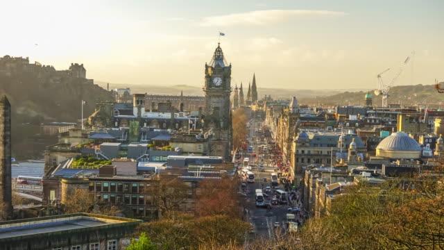 Skyline of the city of Edinburgh