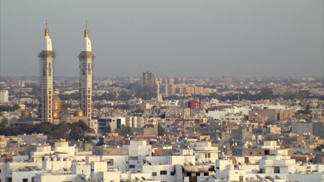 skyline of tripoli in libya on a sunny day - libya stock videos and b-roll footage