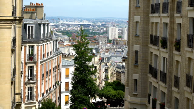 skyline paris - observation point stock videos & royalty-free footage