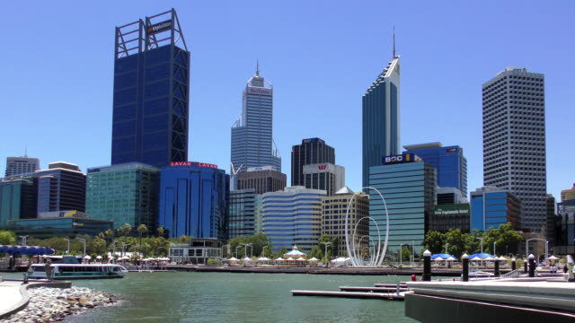 skyline - perth, australia - downtown stock videos & royalty-free footage