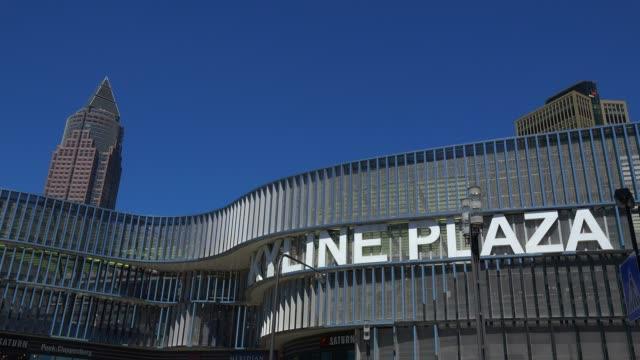 skyline plaza shopping centre and messeturm, fair tower, frankfurt fair, frankfurt am main, hesse, germany - tradition stock videos & royalty-free footage