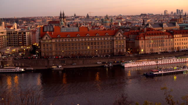 skyline prague , panning - traditionally czech stock videos and b-roll footage