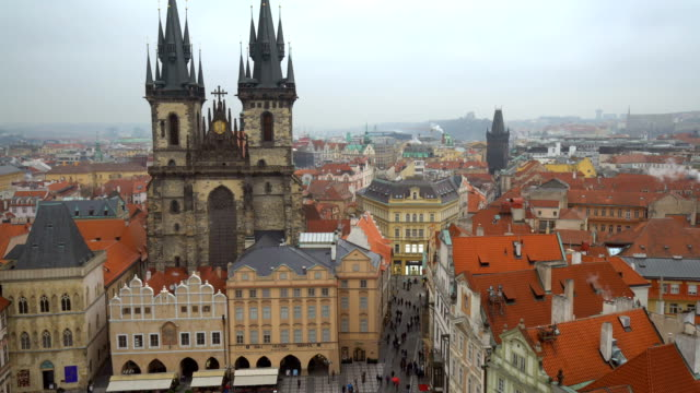 skyline prague, time lapse - prague stock videos & royalty-free footage