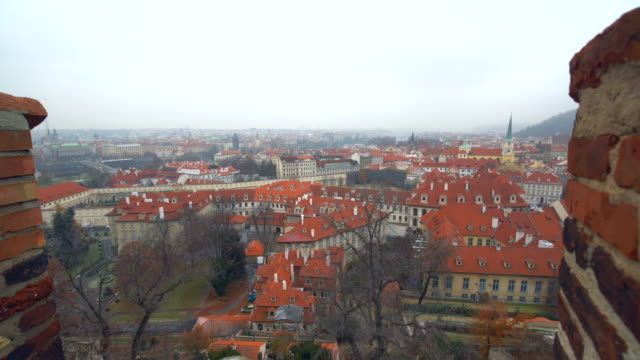 skyline prague - traditionally czech stock videos and b-roll footage