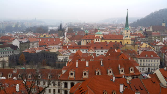 skyline prague - eastern european culture stock videos and b-roll footage