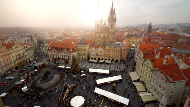 Skyline Prague with Christmas Market