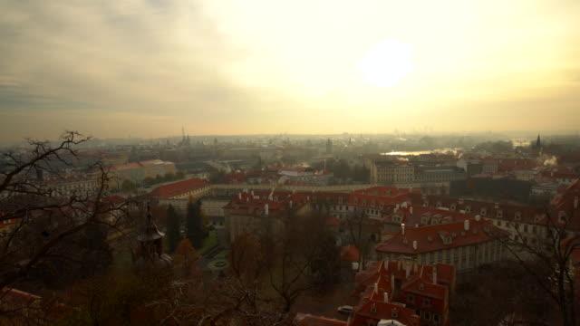skyline prague with sun - traditionally czech stock videos & royalty-free footage