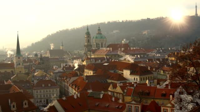 Skyline Prag med sol