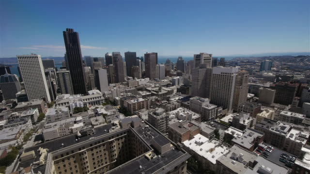 skyline san francisco seen from nob hill - nob hill stock videos & royalty-free footage