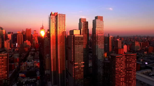 Skyline Sunset Aerial 1