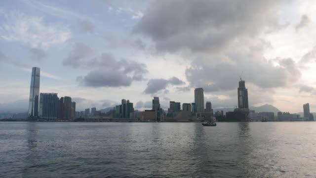 hong kong: skyline, timelapse - hong kong island stock videos & royalty-free footage