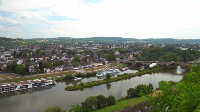 skyline trier, time-lapse - lorraine stock videos & royalty-free footage