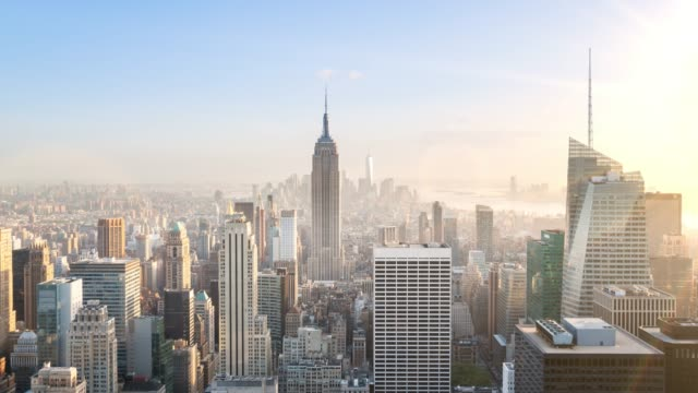 skyline - empire state building stock-videos und b-roll-filmmaterial