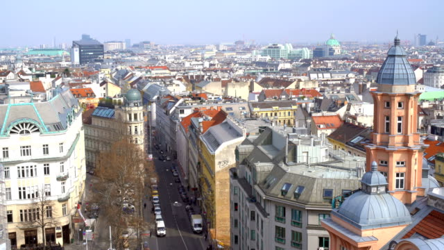 skyline vienna, time lapse - vienna austria stock videos & royalty-free footage