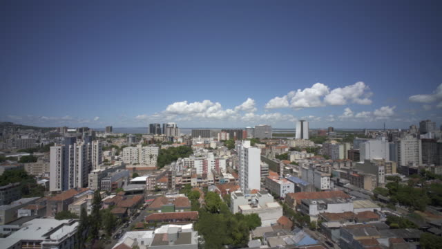 skyline view of porto alegre the capital of the brazilian state of rio grande do sul. - porto alegre stock-videos und b-roll-filmmaterial