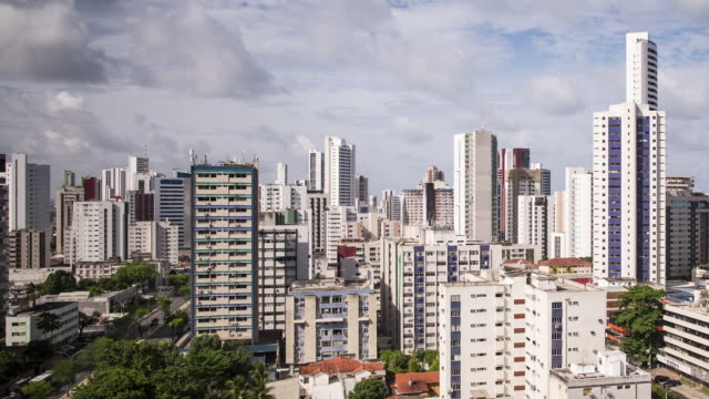 tl, ws skyline view of recife / recife, brazil - recife stock videos and b-roll footage
