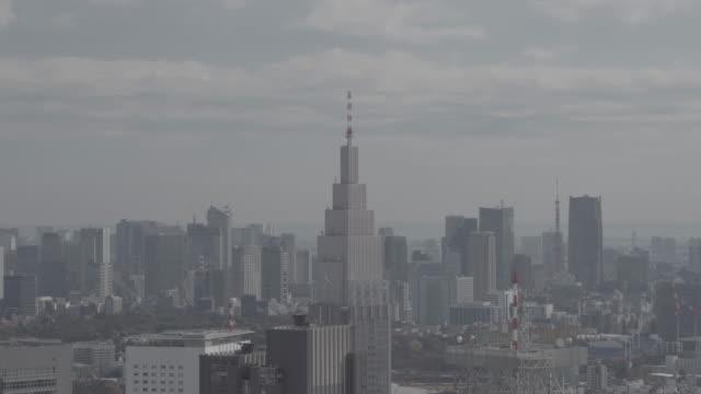 skyline view of tokyo - スモッグ点の映像素材/bロール