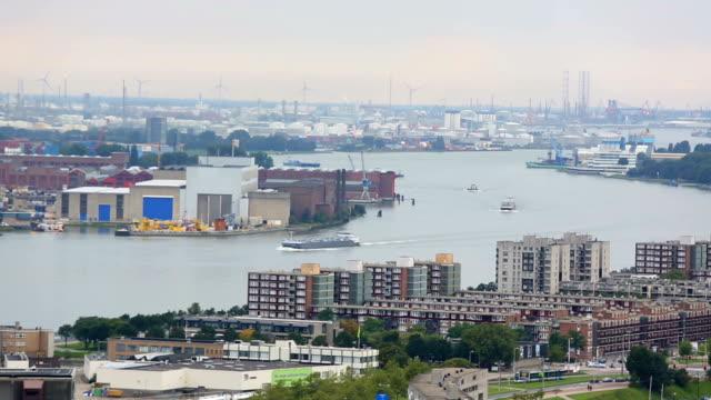 skyline von rotterdam - rotterdam stock videos and b-roll footage