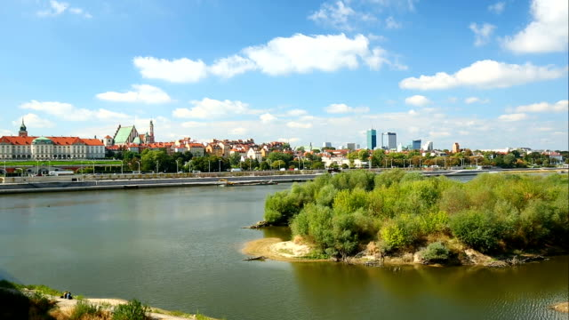 skyline warsaw, time lapse - warsaw stock videos & royalty-free footage