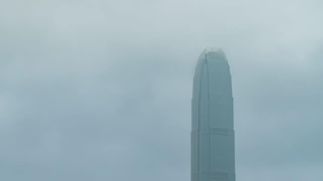 stockvideo's en b-roll-footage met 4k tl: wolkenkrabber en cloud. - hong kong