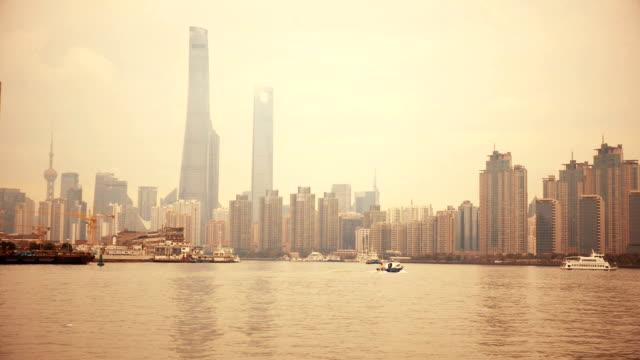 skyscraper at Shanghai Huangpu river