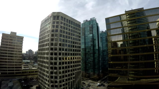 skyscraper at vancouver - traffic light stock videos & royalty-free footage