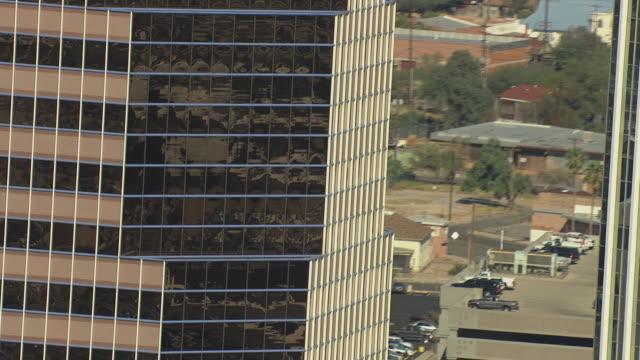 MS AERIAL TU Skyscraper building / Tucson, Arizona, United States
