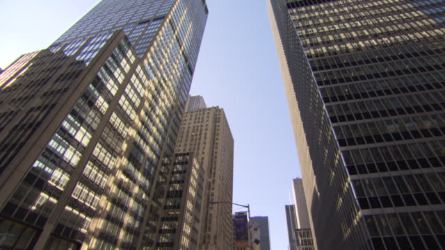 skyscraper buildings, new york city, usa - cubism stock videos & royalty-free footage