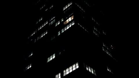 vídeos y material grabado en eventos de stock de rascacielos en la noche - night