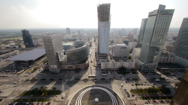 w/s skyscraper in warsaw, poland - warsaw stock videos and b-roll footage