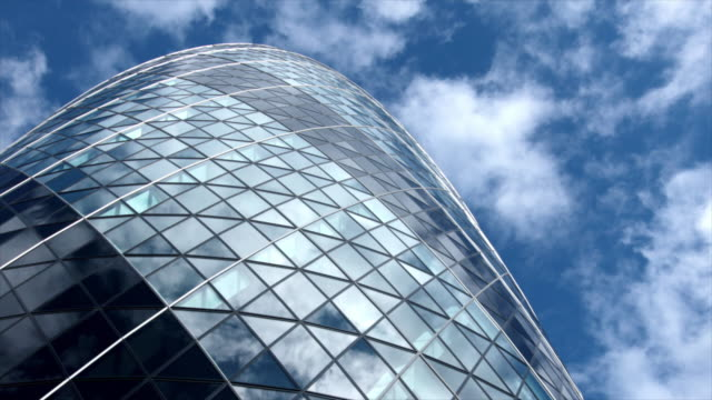 skyscraper reflection - london england stock videos & royalty-free footage